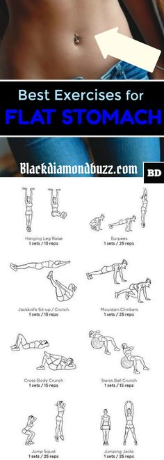 Flat Stomach Exercises: How to get flat stomach and thin thighs in 2 weeks