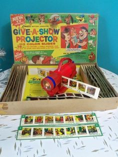 Vintage 1963 Kenner Give A Show Projector Toy 50 Slides Original in Box | eBay-old_biddys