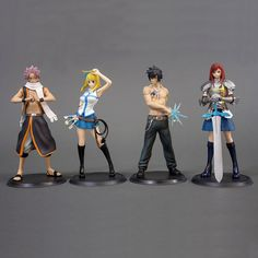 NEW hot 15cm 4pcs/set FAIRY TAIL Etherious Natsu Dragneel Lucy Gray Erza Scarlet Action figure toys doll collection with box