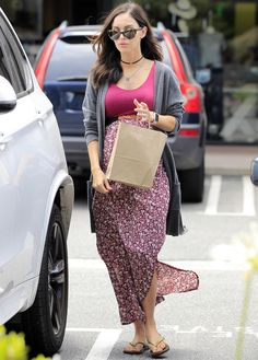 Megan Fox Shows Off Her Boho Bump Style in Los Angeles from InStyle.com