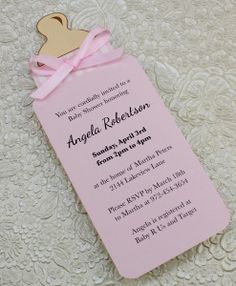 Baby Bottle Girl Shower Invitation Template