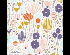 Bio-Stoffe - Bio-Stoff Cloud9 Morning Song Rich Meadow Blumen - ein Designerstück von LottiKlein bei DaWanda