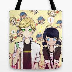 Adrinette Tote Bag - $18 ⋆ Gifts for Miraculous Ladybug Fans!