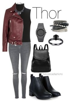 """""""Thor"""" by msfrancescaaloe on Polyvore featuring Topshop, Elizabeth and James, Acne Studios, CC, H&M, women's clothing, women's fashion, women, female and woman"""
