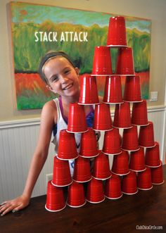 Family approved Minute to Win It game ideas. These kid-friendly games will make family game night the ultimate party. Two to one hundred players, ages zero to whatever! Slumber Party Games, Kids Party Games, Birthday Party Games, Slumber Parties, Fun Games, Girl Birthday, Birthday Ideas, Kids Sleepover, 11th Birthday