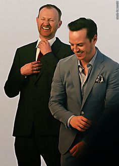 Mark Gatiss & Andrew Scott. Cutest not-a-couple couple