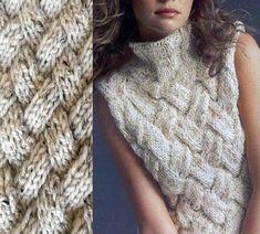 Hand Knit Vest Entrelac   Craftsy