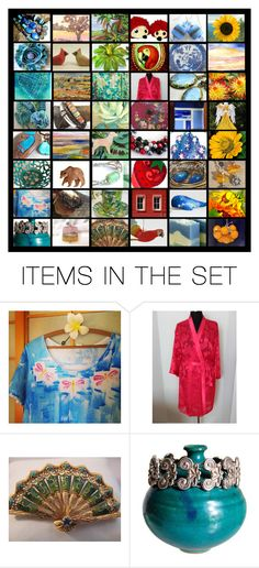 """""""Integritytt Bands of Color"""" by rescuedofferings ❤ liked on Polyvore featuring art, vintage, integrityTT and EtsySpecialT"""