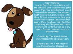 Cute pronoun activity!