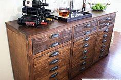 DIY Knockoff Restoration Hardware Printmakers Sideboard