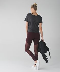 These Mesh fabric-panelled pants score top marks for breathability and ease of movement through stretches and pliés.