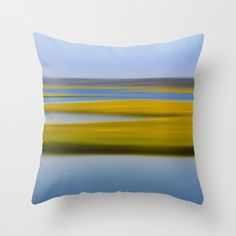 Beach Decor Throw Pillow or Pillow Cover Green Yellow Blue Coastal Living Room Abstract Marsh Nautical Stripes Preppy Bedroom Home Decor on Etsy, $40.00