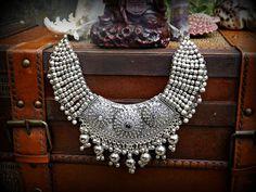 Silver Ethnic Necklace, Silver Kuchi Necklace, Statement Banjara Necklace, Statement Necklace, Ethnic Jewellery Kuchi Jewellery Tribal