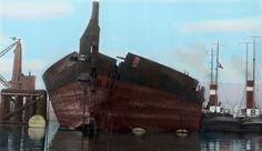 RMS Olympic in color demolition - Recherche Google