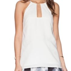 NWOT Revolve White Strappy Tank Purchased from revolved - new without tags, took them off and never wore it. Perfect for any summer outfit! Cameo Tops Camisoles