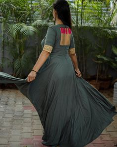 Shop salwar suits online for ladies from BIBA, W & more. Explore a range of anarkali, punjabi suits for party or for work. Sleeves Designs For Dresses, Neck Designs For Suits, Blouse Neck Designs, Necklines For Dresses, Lengha Blouse Designs, Fancy Blouse Designs, Kurta Designs, Back Dress Design, Simple Gown Design