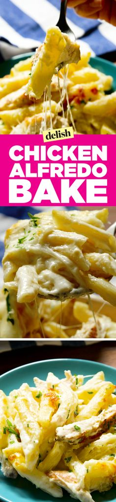 This chicken alfredo bake will warm your soul. Get the recipe on Delish.com.