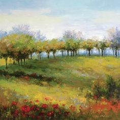 Tree Line by Van Matino Painting Print on Wrapped Canvas