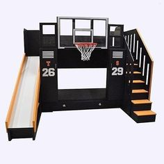 How cool is this Basketball bunk bed?! Via @tanglewooddesign... - Home Decor For Kids And Interior Design Ideas for Children, Toddler Room Ideas For Boys And Girls #kidsroomideasforgirls