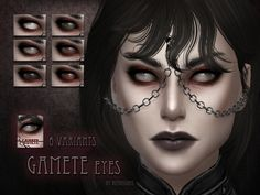 The Sims Resource: Gamete Eyes by RemusSirion Scary Eyes, Spooky Eyes, Sims Four, Sims 4 Mm, Scary Makeup, Eye Makeup, Sims 4 Cc Eyes, Sims 4 Characters, Queen Makeup