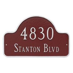 Montague Metal Products Large Two Line Lexington Arch Address Plaque Finish: Chocolate/Silver