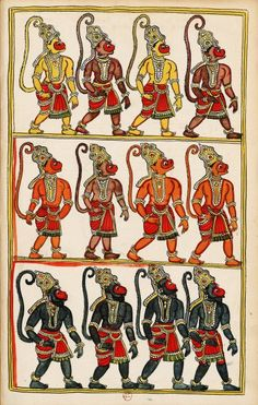 Lakshmana returns to Rama and Sugriva with the monkey army to go in search of Sita. Masulipatam (Andhra) and Karaikal (Tanjore), between 1727 and 1758