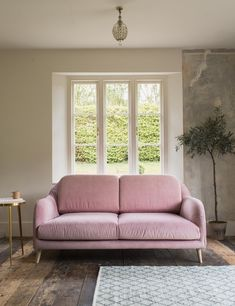Kew Sofa Two Seater in Soft Pink Velvet Furniture, Stylish Living Room, Sofa, Vintage Style Sofas, Stylish Sofa, Stylish Furniture, Mid Century Modern Interiors, Retro Sofa, Vintage Furniture