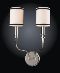 ELK Lighting 1620-2 Two Light Wall Bracketin Polished Nickel