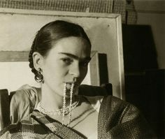 """""""I paint self-portraits, because I'm so often alone, because I am the person I know best."""" Frida Kahlo.      Frida Kahlo by Imogen Cunningha..."""