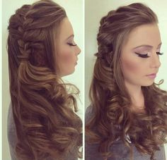 If you are looking for an amazing style for your hair, you may give an eye to the collection we have gathered over here. You may check out hairstyles for girls in 11 Unique And Different Hairstyles for Girls For A Head Turning Effect. Plaits Hairstyles, Dance Hairstyles, Pretty Hairstyles, Braided Hairstyles, Wedding Hairstyles, Simple Hairstyles, Bridesmaid Hair, Prom Hair, Different Hairstyles
