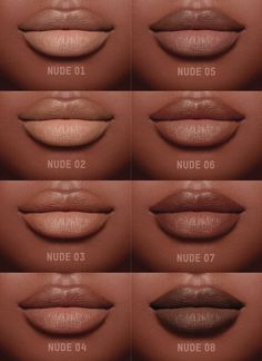 "Lipstick dupes 643451865492779528 - gotta look for dupes! The model Tori Bass is wearing the creamy "" Nude crème "" lipstick set made by KKW BEAUTY coming in 8 distinct shades ( SWIPE LEFT ⬅… Source by theskincareculture Lipstick For Dark Skin, Dark Skin Makeup, Nude Makeup, Nude Lipstick, Lipstick Colors, Makeup Lipstick, Lip Colors, Natural Makeup, Lipstick Shades"