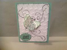 Handmade card, Designs by Judy Talley. Happy Anniversary.