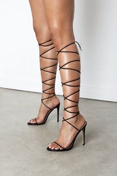Black And Silver Heels, Silver Strappy Heels, Black Stiletto Heels, Lace Up Sandal Heels, Tie Up Heels, Dress And Heels, Thigh High Heels, Lace Up High Heels, Dr Shoes