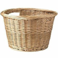 Large Wicker Woven Willow Basket Round Storage with Handle Log Toy Laundry #3058 | eBay