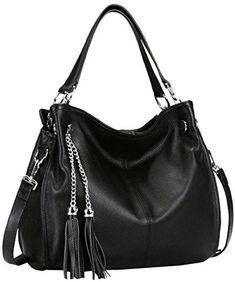 Heshe Womens Simple Style Shoulder Bag Handbags Tote Cross Body Purse Blackr ** Read more  at the image link.