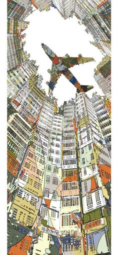 Kowloon: looks just like this too! What a great idea for teaching perspective...pick a city and caricature something about it.