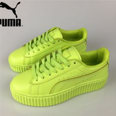 f35ce13661a Women s Fenty Puma by Rihanna Leather Creepers Shoes Apple Green