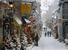 """Christmas in """"Old Town"""", Quebec City, Canada"""
