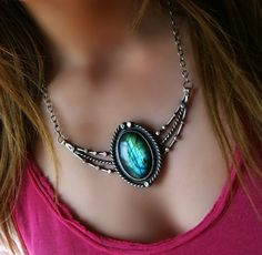 RESERVED  The Winged Star   Labradorite Sterling by MercuryOrchid