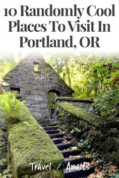 10 Randomly Cool Places To Visit In Portland, OR - - With all its quirk, Portland, OR has quickly become one of the most popular American cities. Oregon Vacation, Oregon Road Trip, Us Road Trip, Oregon Travel, Vacation Places, Vacation Spots, Travel Usa, Places To Travel, Yellowstone Vacation