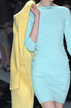 #Blue #Yellow #Pastels #Runway #ItGirl #Fashion #Style #Inspiration #BiographyInspiration