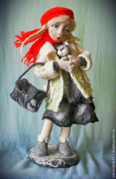 """Коллекционные куклы ручной работы. Ярмарка Мастеров - ручная работа Авторская кукла из шерсти """"Пушистое счастье"""". Handmade."""