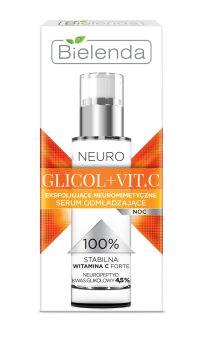 00ee7418f282 Bielenda Neuro Glikol + Vit.C Serum odmładzające na noc 30ml:produkt  idealny dla
