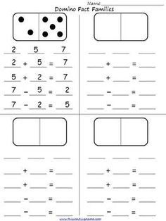 free downloadable dominoes worksheets - Google Search