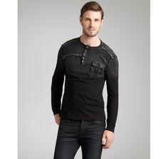 Black Hearts Brigade black cotton 'Rockbed' long sleeve crewneck shirt   BLUEFLY up to 70% off designer brands