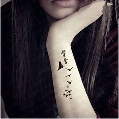 Waterproof Temporary Tattoo Sticker Carpe Diem Freedom Birds Tattoos Body Art
