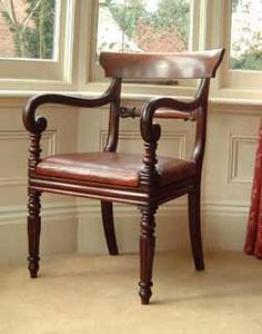 The perfect Georgian chair would be great to have a pair for an entry seating…