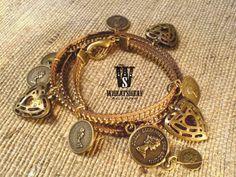 Zipper bracelet  brass Elizabeth Queen by WHEATSHEAFaccessory, $10.00