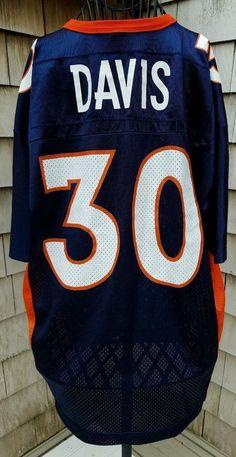 Denver Broncos Terrell Davis NFL Football Champion Jersey L Vintage Rare Team 44 please retweet