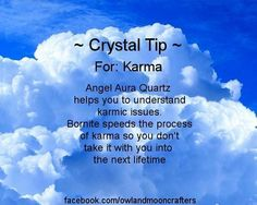 ✯ Crystal Tip: For Karma :: From Owl And Moon Crafters ✯
